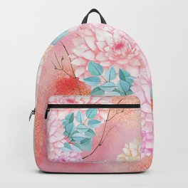 Gold dahlia bouquet #society6 Backpack