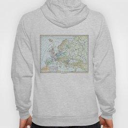Vintage Map of Europe (1899) Hoody