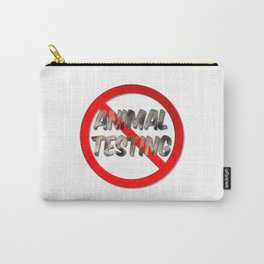 No Animal Testing Sign Carry-All Pouch