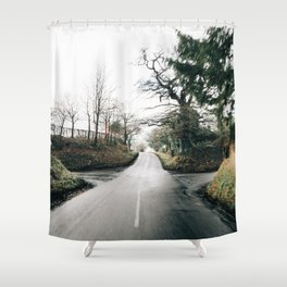 middle of the road in UK Shower Curtain
