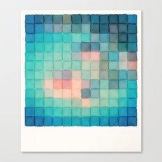 Polaroid Pixels VI (Crabapple) Canvas Print