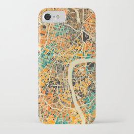 London Mosaic Map #3 iPhone Case