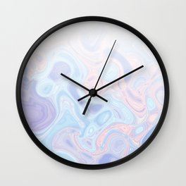Liquid Pastel Marble Ombre 1. lilac, nude and aqua #pastelvibes #homedecor #buyart Wall Clock
