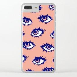 Stay Weird (Peach) Clear iPhone Case