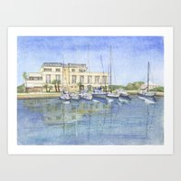 Italian Summer. September. Porto di Roma Art Print