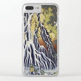 Hokusai Katsushika - Kirifuri waterfall at Kurokami mountain in Shimotsuke Clear iPhone Case