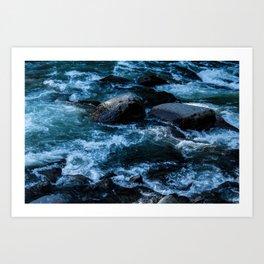 Like Stones Under Rushing Water Art Print