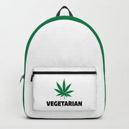 Vegetarian Leaf Funny Quote Backpack