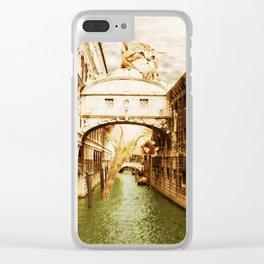 Giant Kitten in Venice (1) Clear iPhone Case