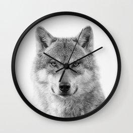 Wolf Portrait Wall Clock
