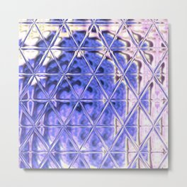 Triangle Glass Tiles 311 Metal Print
