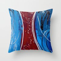 dress Throw Pillows featuring Red Dress by RvHART