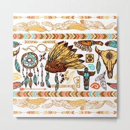 native americans pattern Metal Print