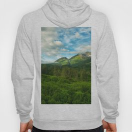 Alaska USA Chugach National Forest Nature Mountains Sky Forests landscape photography Clouds mountain forest Scenery Hoody