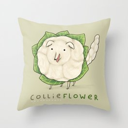 Collieflower Throw Pillow