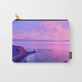 California Purple, Pink & Blue Dramatic Beach Sunset Carry-All Pouch