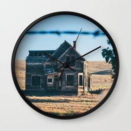 Abandoned Farmhouse in Dufur, Oregon Wall Clock