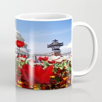 patriotic Mugs featuring Patriotic Tulips by Madison Webb