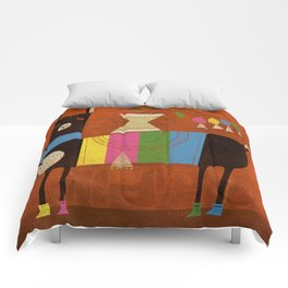 STRIPED LAMA Comforters