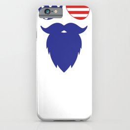4th of July American Beard and Sunglasses Fourth of July iPhone Case