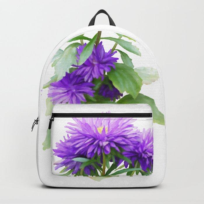 Purple Flowers, watercolors Backpack