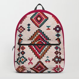 Oriental Traditional Moroccan Boho Vintage Artwork Backpack