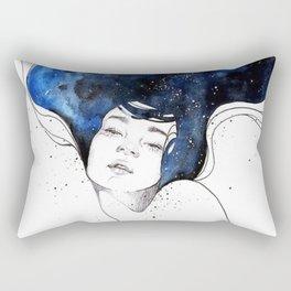 Mina with long and night hair Rectangular Pillow