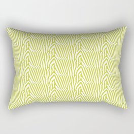 CHARTREUSE ZEBRA STRIPE Rectangular Pillow