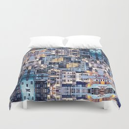 Community of Cubicles Duvet Cover