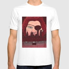 Escape from NY Mens Fitted Tee White MEDIUM