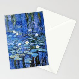 waterlilies a la Monet Stationery Cards