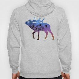 Night Wisdom Elk - Colorful Hoody