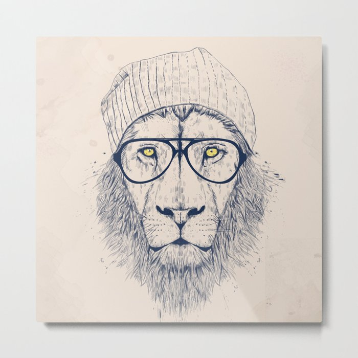 Cool lion Metal Print