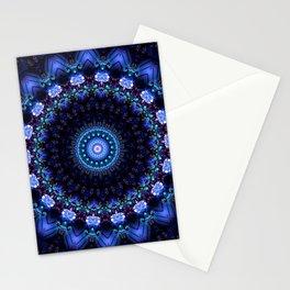 Cerulean Night Jewel Mandala Stationery Cards