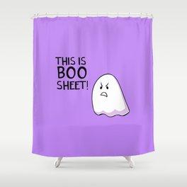 Grumpy Ghost Shower Curtain