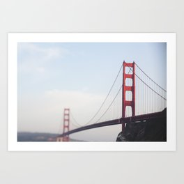 Golden Gate at dusk Art Print