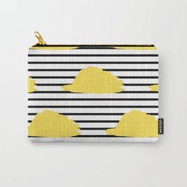 Yellow & Black Stripes Digital Design Carry-All Pouch