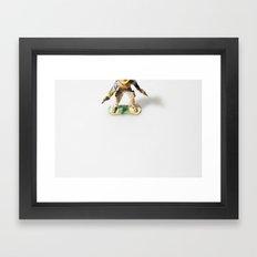 The Little Cowboy, standing Framed Art Print
