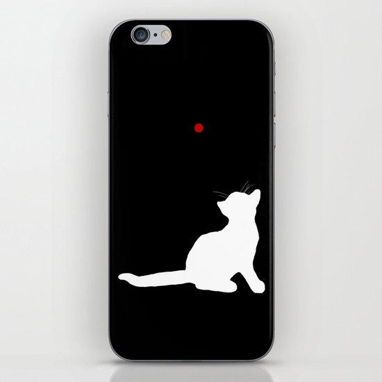 Cat and Laser Cute Minimalistic Animal Portrait iPhone & iPod Skin