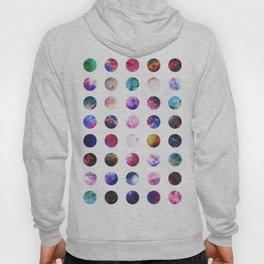 Rainbow Nebula Galaxy Girly Polka Dots Pattern Hoody