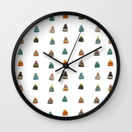 Hats for Winter Wall Clock