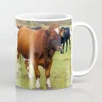 cows Mugs featuring Cows by AstridJN