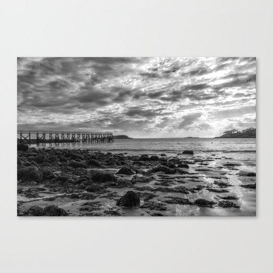 Magnolia Pier #2 B&W Canvas Print