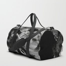 Black Abstract Rectangles Duffle Bag