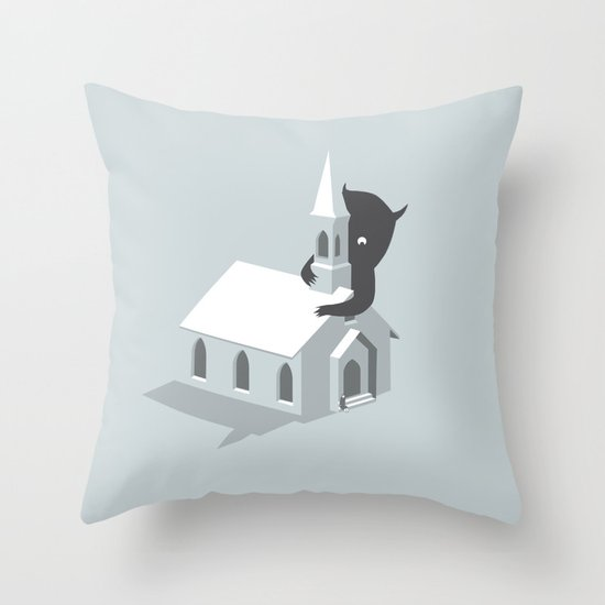 Monster! Throw Pillow