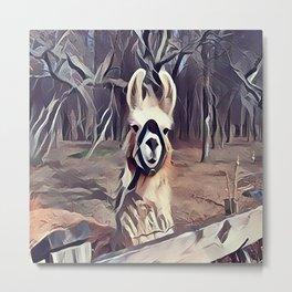 South American Alpaca Metal Print
