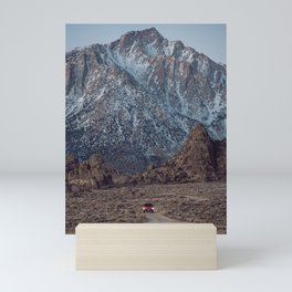 Snowy Mount Whitney And Car Mini Art Print