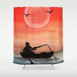 Patience and Solitude Shower Curtain