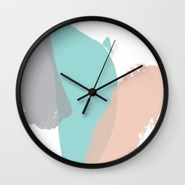 Brush strokes composition #1 Wall Clock