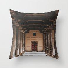 Temple Halls Throw Pillow